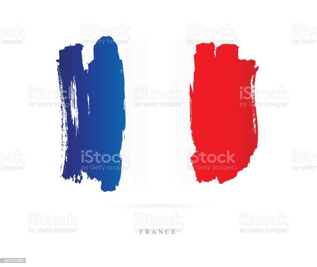 Pavillon de la France. Illustration vectorielle - Illustration vectorielle