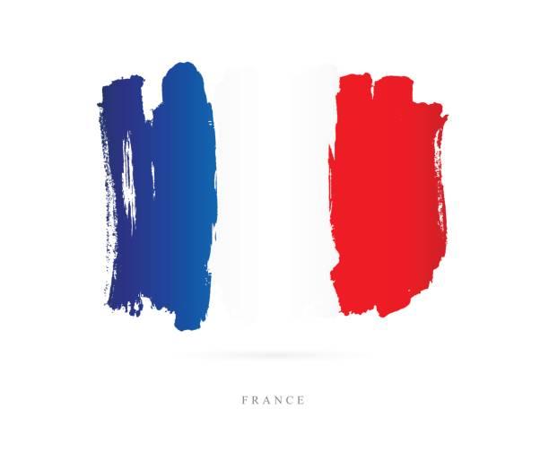フランスの旗。ベクトル図 - フランス料理点のイラスト素材/クリップアート素材/マンガ素材/アイコン素材