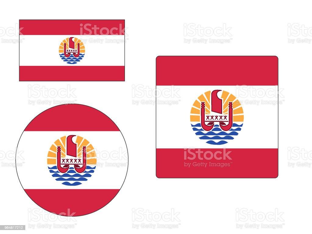 Flag of French Polynesia Set royalty-free flag of french polynesia set stock vector art & more images of flag