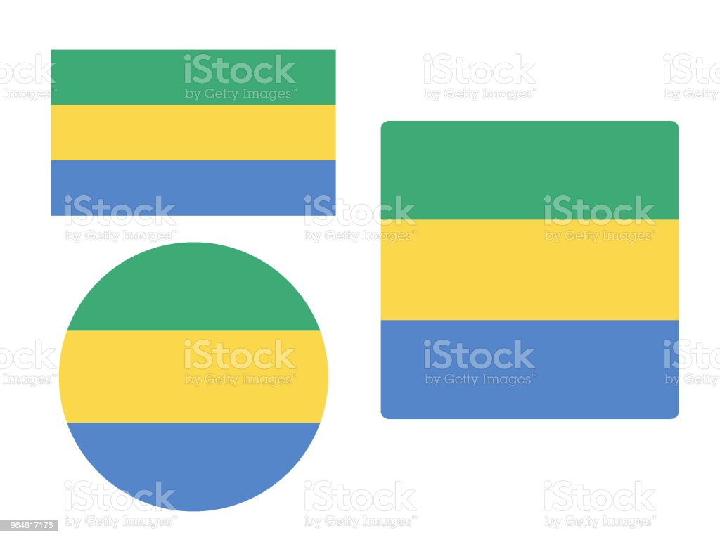 Flag of Gabon Set royalty-free flag of gabon set stock vector art & more images of circle