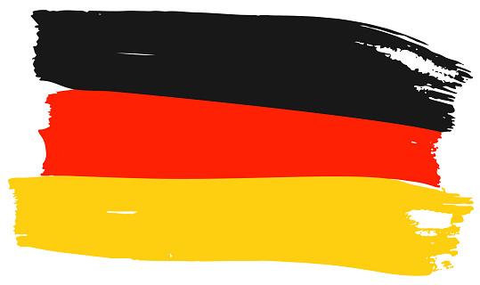 Flag of Germany Brush strokes. Hand drawn sketch