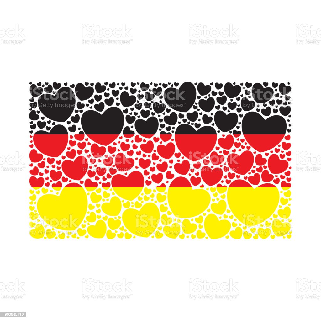Flag of Germany made of hearts - Royalty-free Abstract stock vector