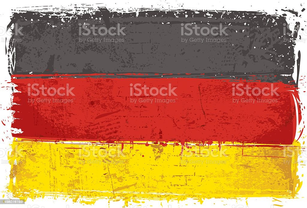 Flag of Germany on Wall vector art illustration