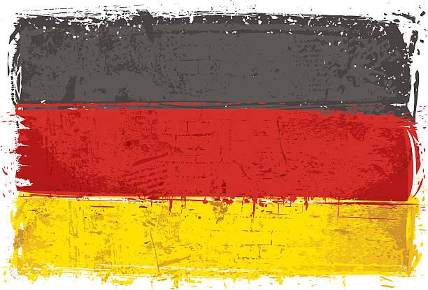 Flag of Germany on Wall vector art illustration