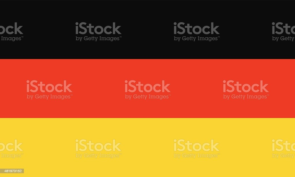 Flag of Germany vector art illustration