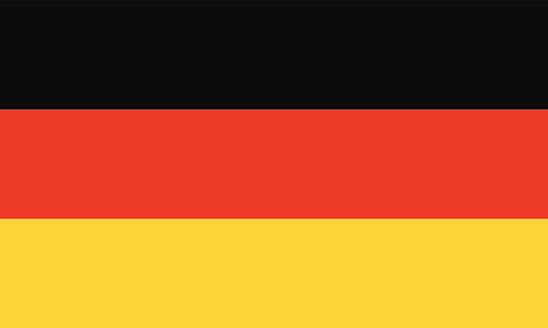 Flag of Germany vector art illustration
