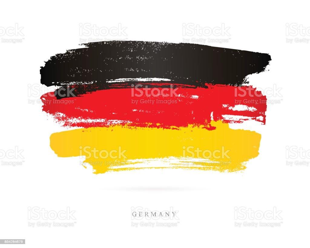 Bandeira da Alemanha. Ilustração vetorial - ilustração de arte em vetor