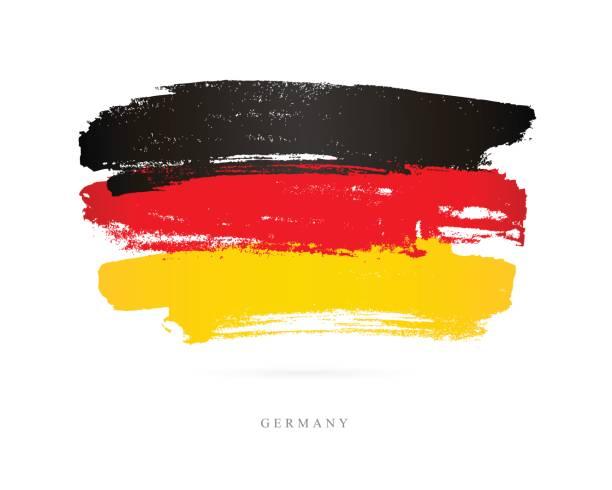 독일의 국기입니다. 벡터 일러스트 레이 션 - 독일 stock illustrations