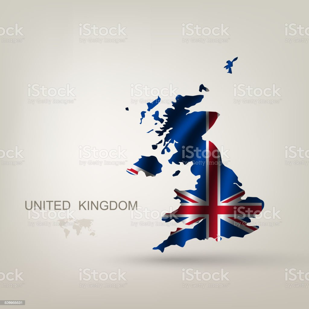 Flag of Great Britain as a country vector art illustration
