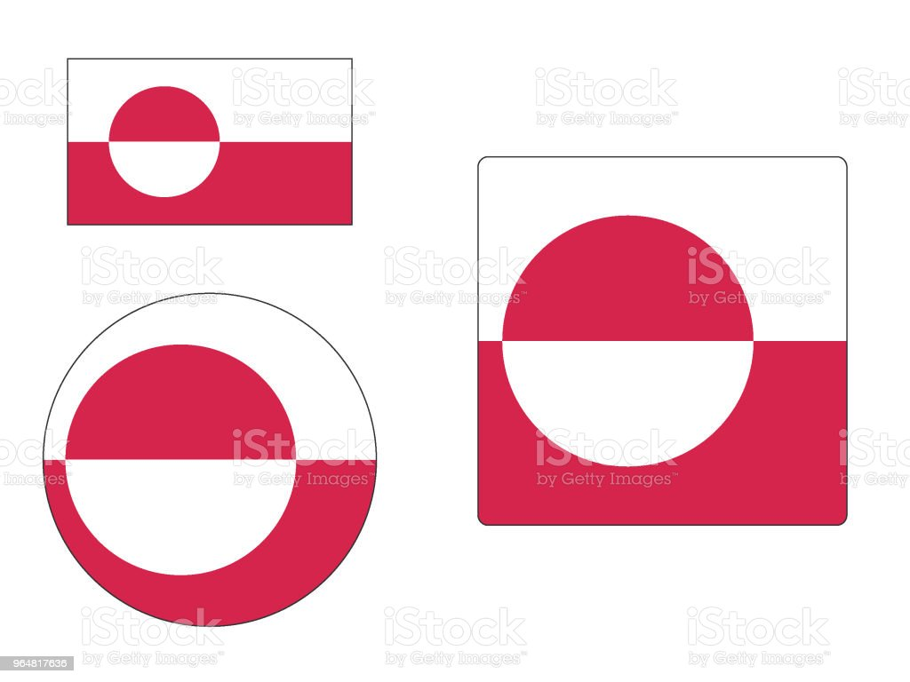 Flag of Greenland Set royalty-free flag of greenland set stock vector art & more images of circle