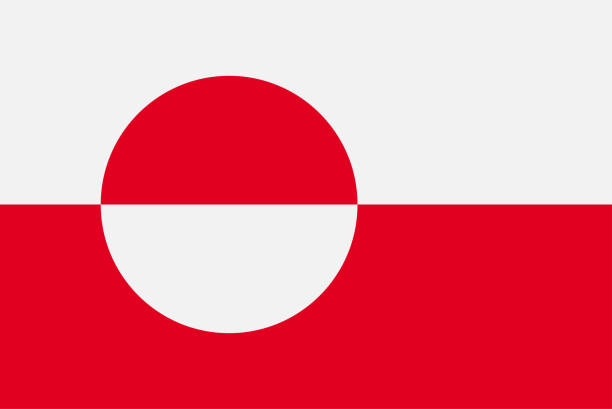 Flag of Greenland. Sovereign state flag of Greenland Flag of Greenland. Sovereign state flag of Greenland vector illustration greenland stock illustrations