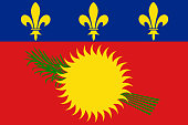 Flag of Guadeloupe. Vector illustration. World flag