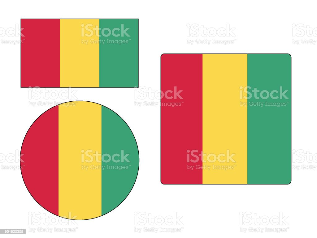 Flag of Guinea Set royalty-free flag of guinea set stock vector art & more images of cut out
