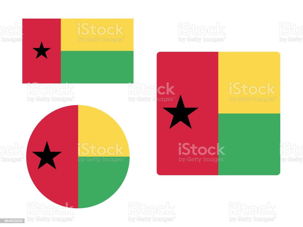 Flag of Guinea-Bissau Set royalty-free flag of guineabissau set stock vector art & more images of circle