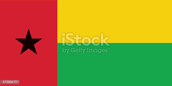 istock Flag of Guinea-Bissau 472334721