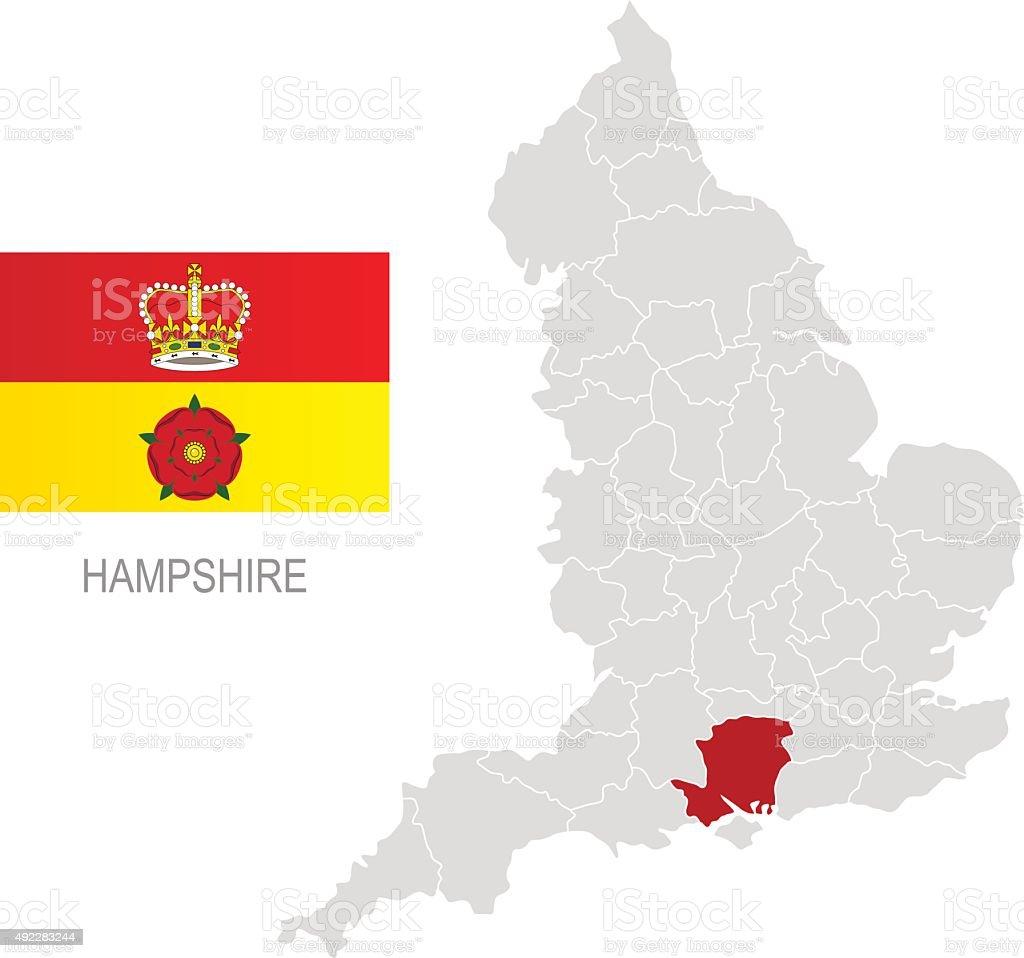 Carte Hampshire Angleterre.Drapeau De Langleterre Hampshire Et Emplacement Sur La Carte Vecteurs Libres De Droits Et Plus D Images Vectorielles De 2015