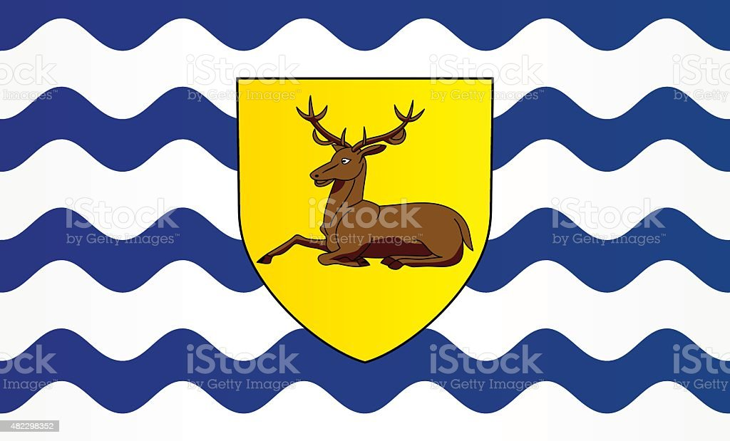 Flag of Hertfordshire vector art illustration