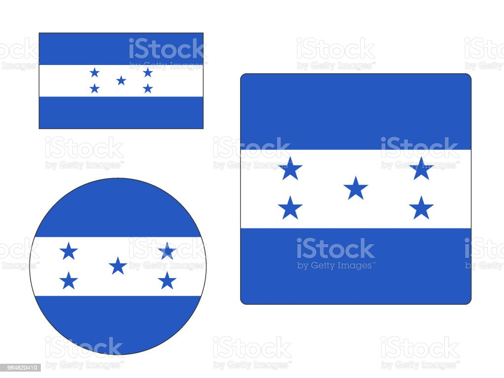 Flag of Honduras Set royalty-free flag of honduras set stock vector art & more images of circle