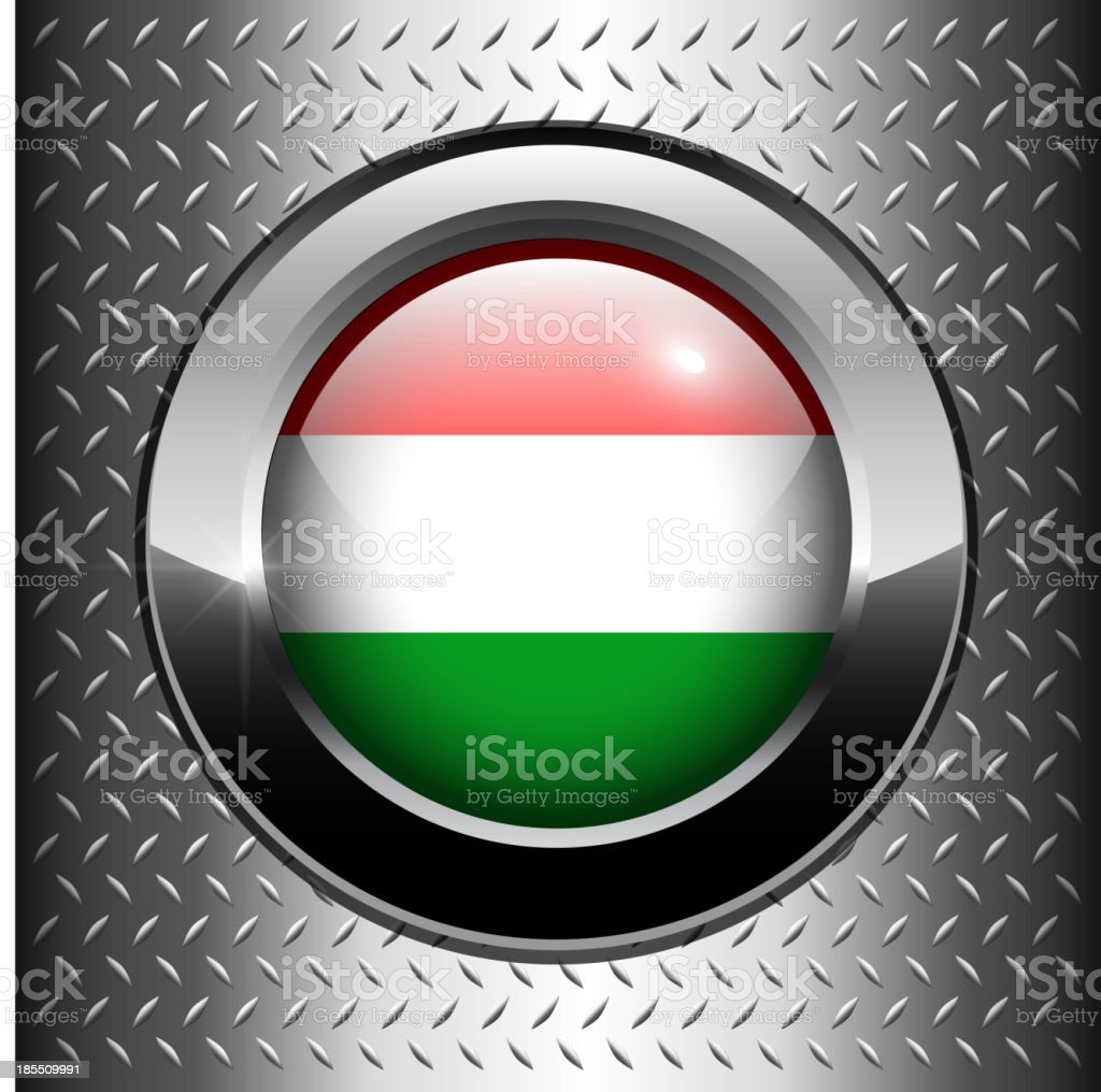 Flag of Hungary button royalty-free stock vector art