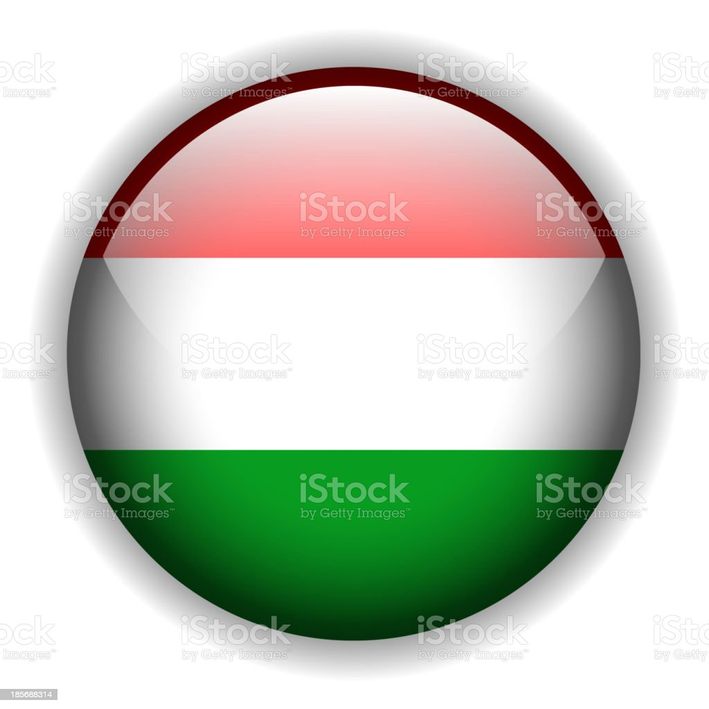 Flag of Hungary button, vector royalty-free stock vector art