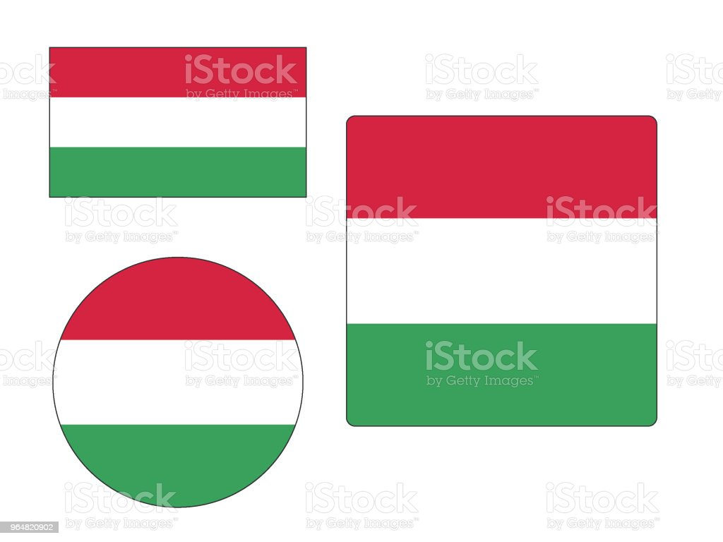 Flag of Hungary Set royalty-free flag of hungary set stock vector art & more images of backgrounds