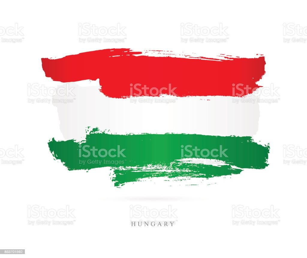 Flag of Hungary. Vector illustration vector art illustration