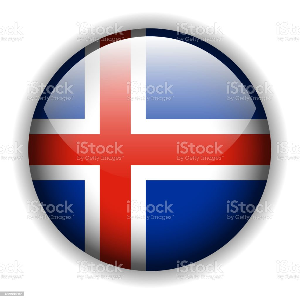 flag of Iceland royalty-free stock vector art