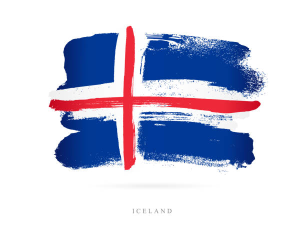 flagge von island. vektor-illustration - iceland stock-grafiken, -clipart, -cartoons und -symbole
