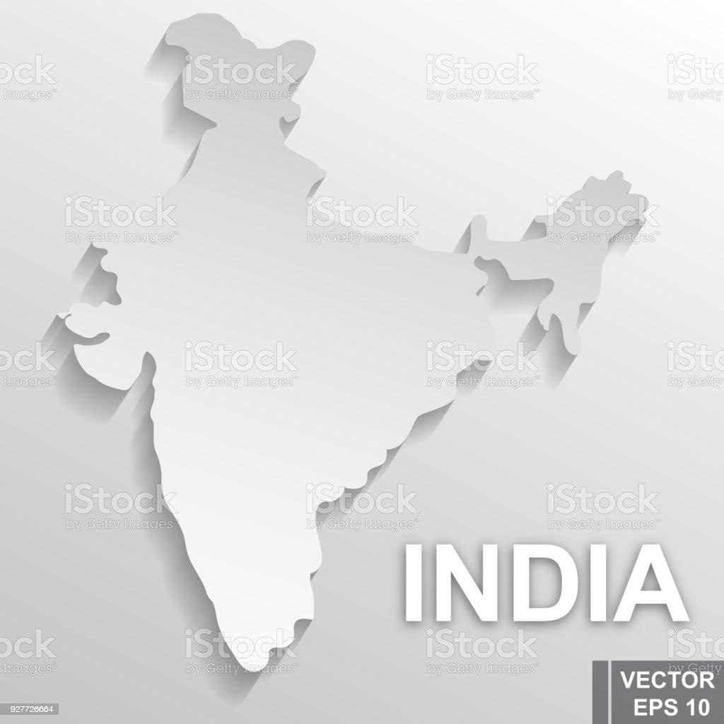 Flagge Von Indien Karte Symbol Des Staates Für Ihr Design Rechteck
