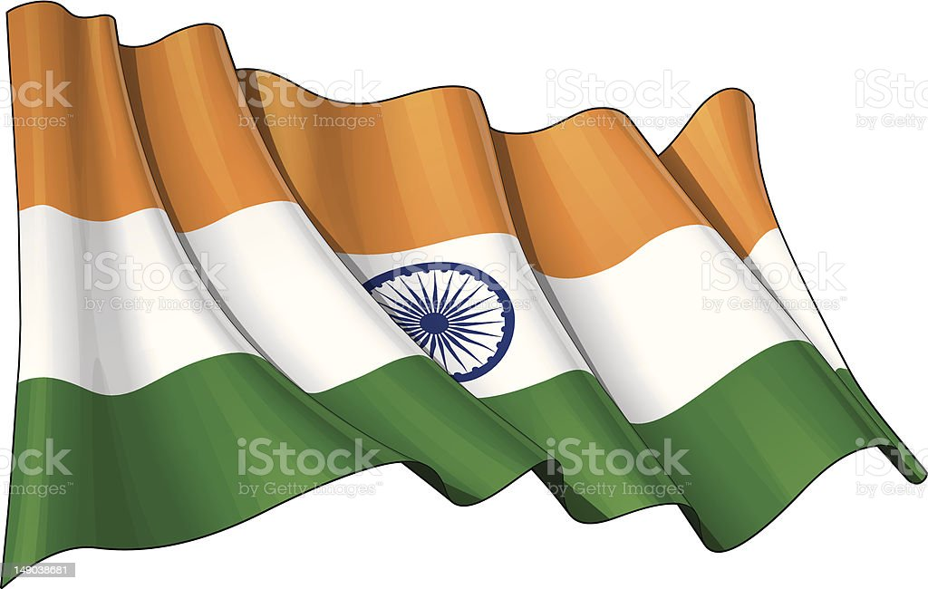 Flag of India royalty-free stock vector art