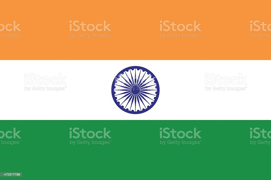 Flag of India vector art illustration