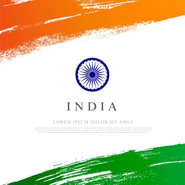 Flagge der indischen Vector Illustration auf weißem Hintergrund – Vektorgrafik