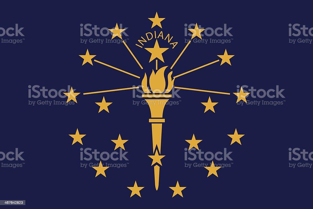 Bandeira de Indiana - ilustração de arte em vetor