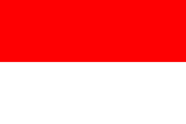 stockillustraties, clipart, cartoons en iconen met vlag van indonesië. vector vlag met officiële kleuren en juiste verhouding. - indonesische vlag