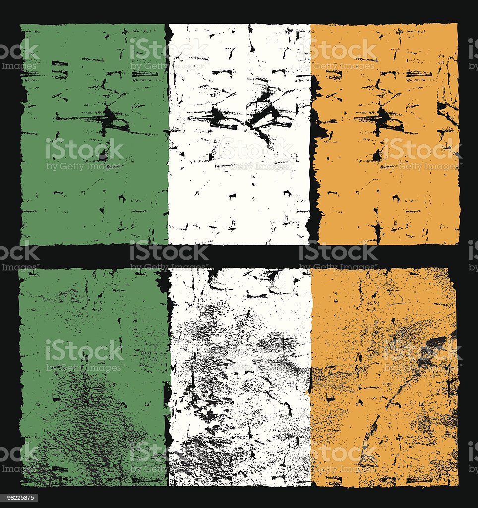 Flag of Ireland, Grunge Style royalty-free flag of ireland grunge style stock vector art & more images of backgrounds