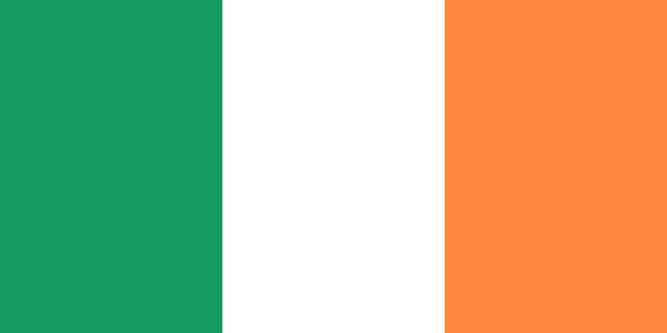 ilustraciones, imágenes clip art, dibujos animados e iconos de stock de bandera de irlanda. colores oficiales. proporción correcta. vector de - bandera irlandesa