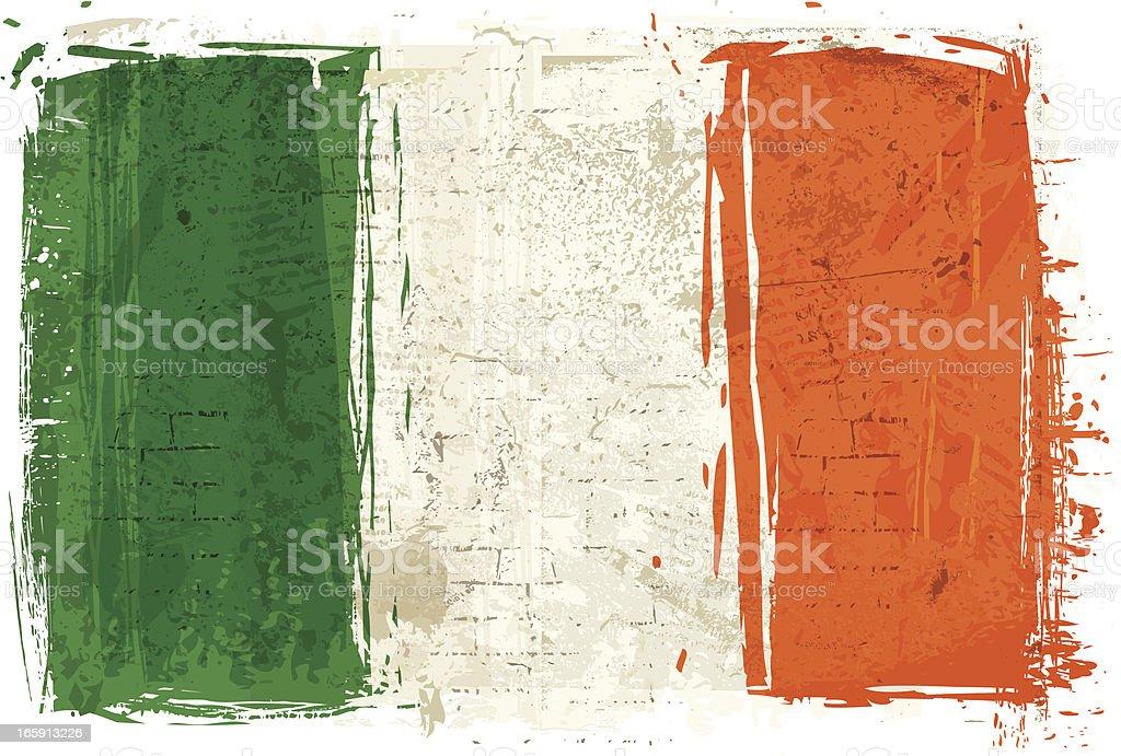 Bandera de Irlanda en pared - ilustración de arte vectorial