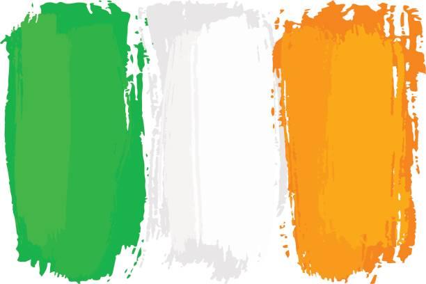 ブラシ ストロークで描かれたアイルランドの旗 - アイルランドの国旗点のイラスト素材/クリップアート素材/マンガ素材/アイコン素材