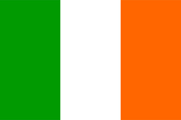 ilustraciones, imágenes clip art, dibujos animados e iconos de stock de bandera de irlanda - bandera irlandesa