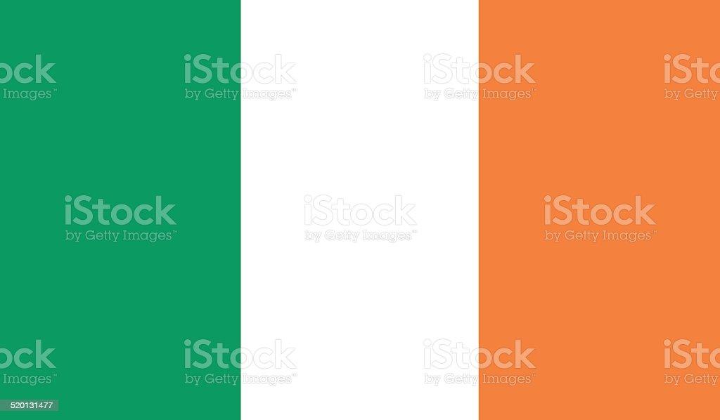 Flag of Ireland vector art illustration