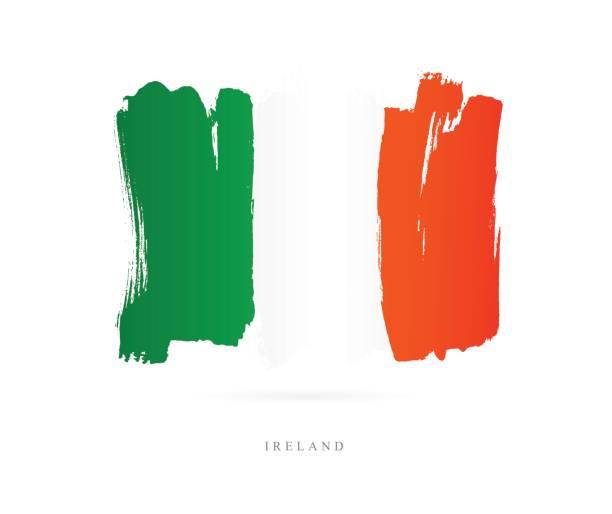 flagge von irland. vektor-illustration - flagge irland stock-grafiken, -clipart, -cartoons und -symbole