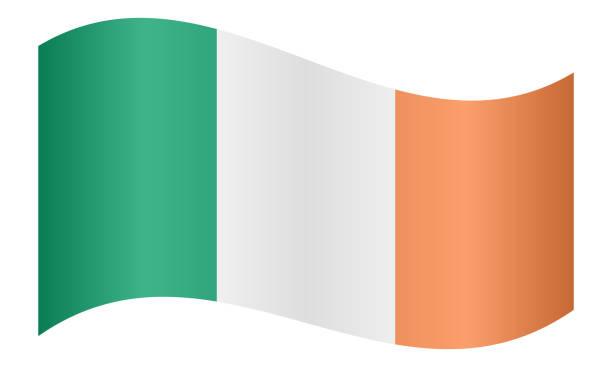 ilustraciones, imágenes clip art, dibujos animados e iconos de stock de bandera de españa ondeando - bandera irlandesa