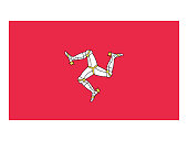 Vector illustration of flag of Isle of Man