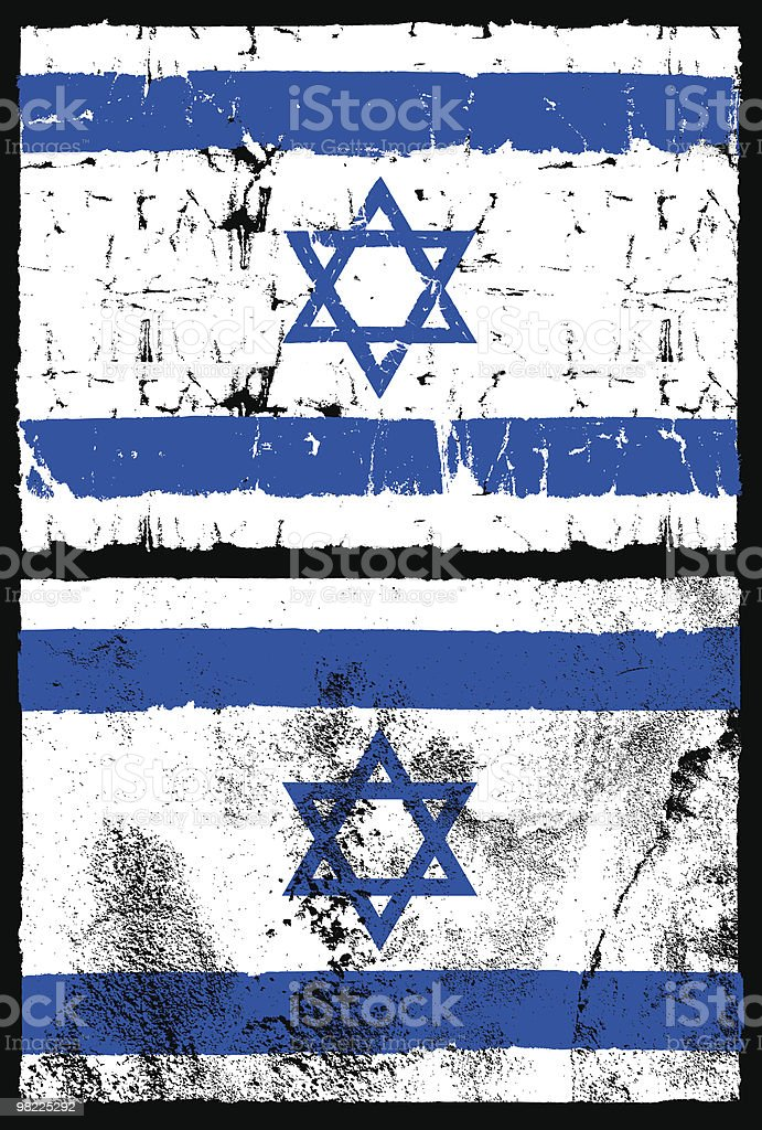 Flag of Israel, Grunge Style royalty-free flag of israel grunge style stock vector art & more images of backgrounds