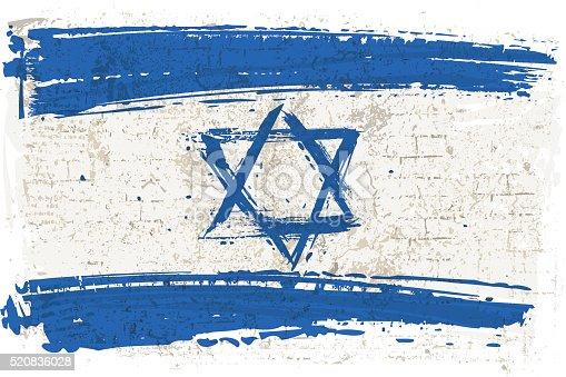 istock Flag of Israel on Wall 520836028
