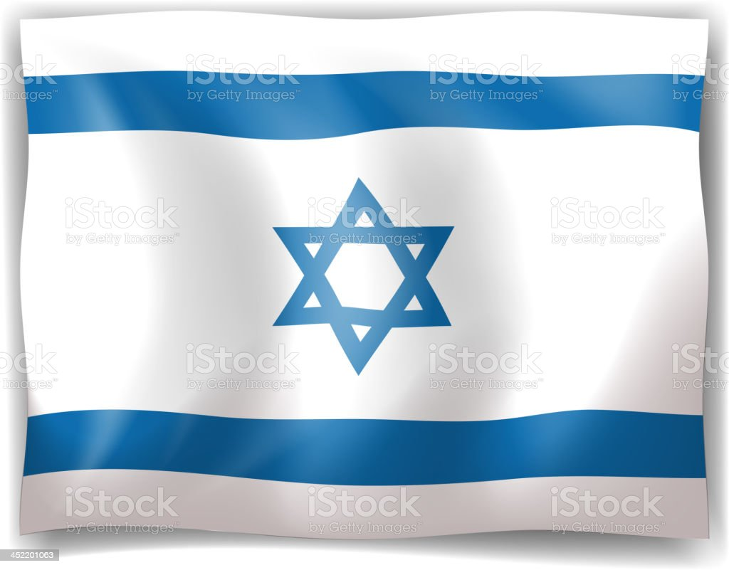 Flag of Israel royalty-free stock vector art