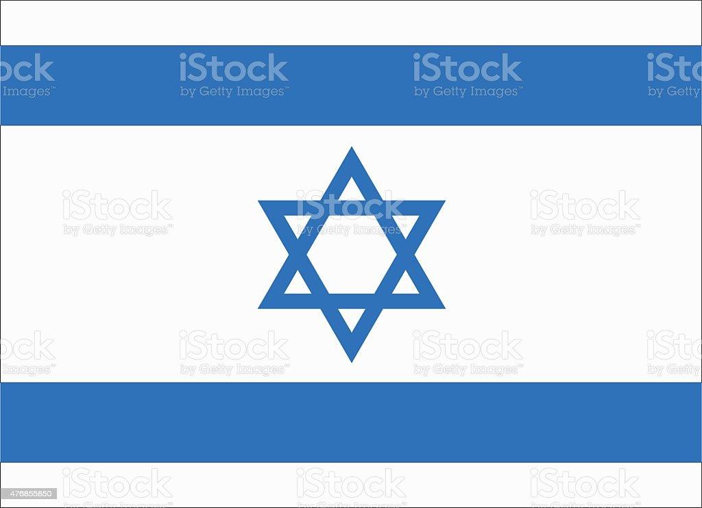 flag of Israel vector art illustration