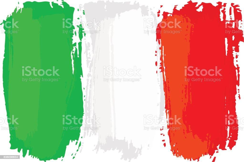 Fırça Darbeleri Ile Boyalı Italya Bayrağı Stok Vektör Sanatı Alman