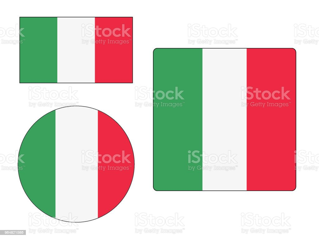 Flag of Italy Set royalty-free flag of italy set stock vector art & more images of circle