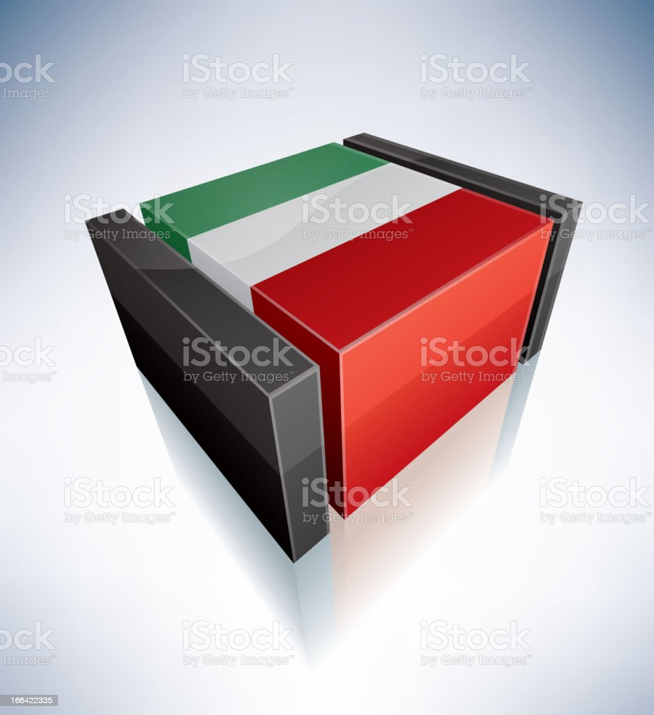 3D flag of Italy royalty-free 3d flag of italy stock vector art & more images of black color